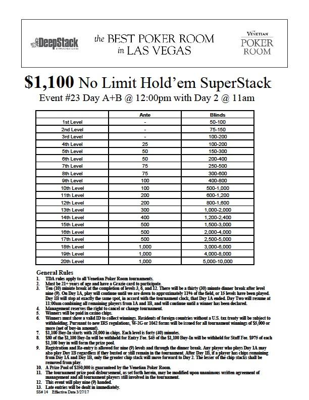 Event 23 Limit Holdem Superstack