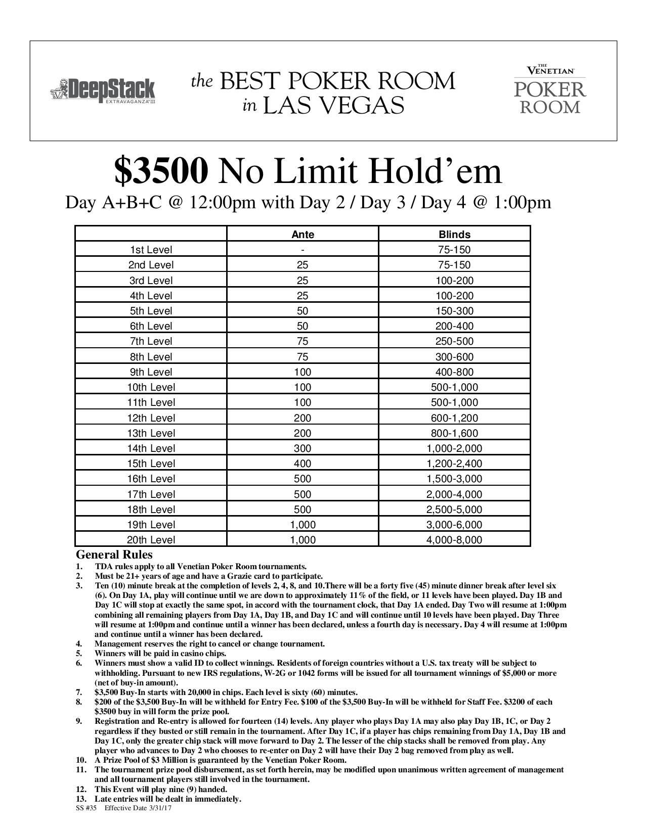 Dse Iii Nl Abc Page Event Limit Holdem Guarantee Day